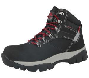 Groundwork Men's Steel Toe Cap Safety Combat Boots - Black Red