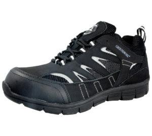 Groundwork Unisex Durable Steel Toe Cap Trainers - Black Grey
