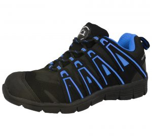 Groundwork Unisex Steel Toe Cap Safety Trainers - Black Blue