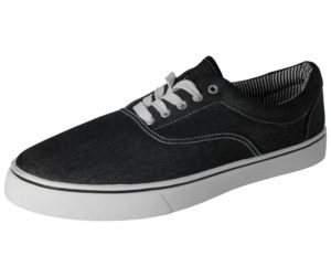 Charles Southwell Men's Breathable Canvas Low Top Trainers - Black Denim
