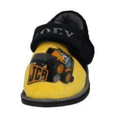 JCB Boys Fleece Touch & Close Slippers