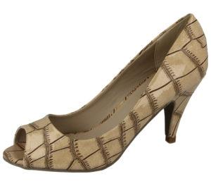 Comfort Plus Women's Faux Leather Peep Toe Stiletto High Heels