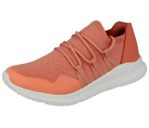 Galop Women's Mesh Textile Slip On Trainers - Coral