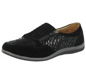 Cushion Walk Women's Soft Suede Zip Slip On Pumps - Black