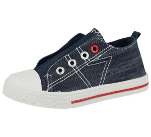 Chatterbox Boys Breathable Canvas Eyelet Slip On Trainers