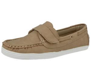 Cushion Walk Women's Faux Leather Slip On Boat Shoes - Beige