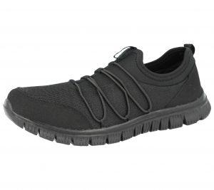 Cushion Walk Women's Textile Mesh Slip On Trainers - Black