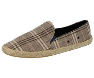 Foster Footwear Men's Canvas Slip On Espadrilles - Beige