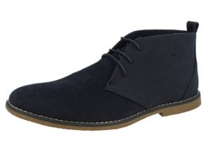 Directional Footwear Men's Faux Suede Lace Up Desert Boots - Navy