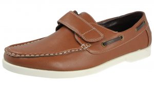 Yinka Shoes Men's Brown Faux Leather Slip On Boat Shoes