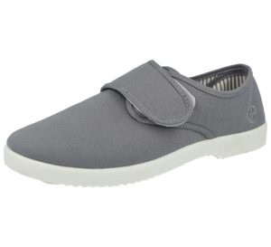 Dr Keller Men's Breathable Canvas Touch & Close Loafers - Grey
