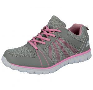 Dr Keller Women's Canvas Lace Up Trainers - Grey