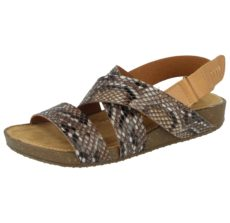 Natrelle Women's Faux Snake Skin Strappy Sandals
