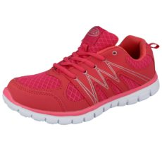 Airtech Women's Pink Mesh Lace Up Trainers