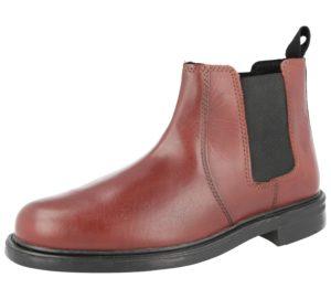 Oaktrak Men's Brown Leather Pull On Chelsea Boots