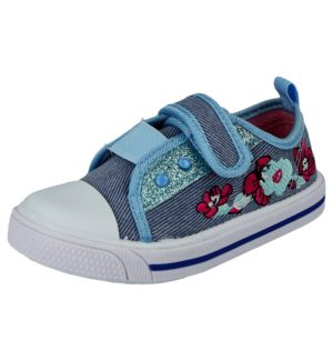 Chatterbox Girls Breathable Denim Canvas Touch & Close Trainers