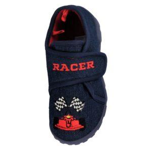Lucky Joe Boy's Racer Touch & Close Slippers