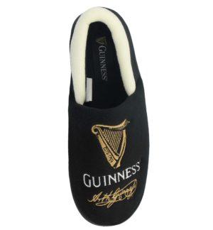 Guinness Men's Soft Velour Novelty Moccasin Slippers