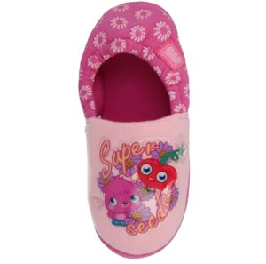 Moshi Monster Girls Fleece Lined Slippers - Pink Mule