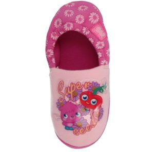 Moshi Monster Girls Fleece Lined Slippers - Pink Mule