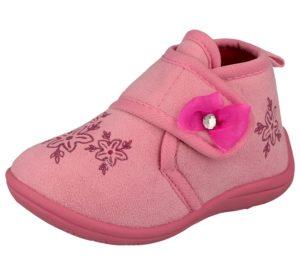 kella girls fleece touch and close slipper boot