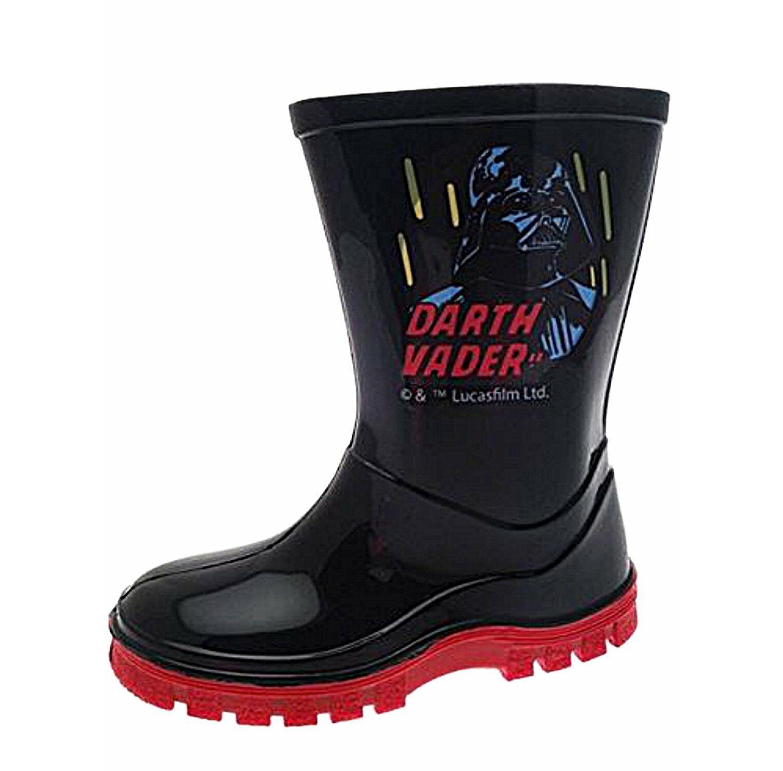 W Lamb Star Wars Kylo Ren Boys Wellington Boots Wellies Size USA 8//UK 7