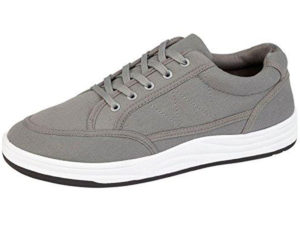 Foster Footwear Men's Breathable Canvas Lace Up Touch & Close Trainers -