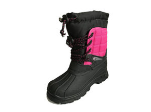 Mercury Girls Pink Black Thermal Winter Boots