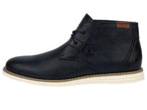 Q1905 Men's Faux Leather Lace Up Desert Boots - Navy