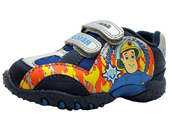 Fireman Sam Boys Sam To The Rescue Touch & Close Trainers