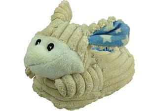 Foster Footwear Girls Sheep Plush Novelty Slippers - White