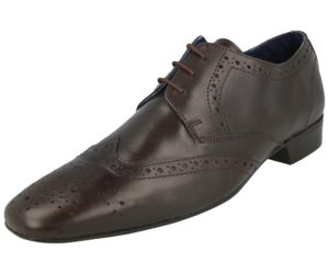 sidewalk mens soft leather oxford lace up brogue brown