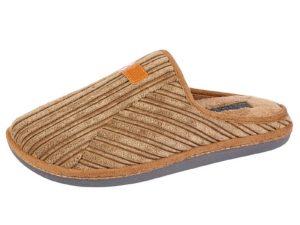 Jo & Joe Men's Jumbo Cord Mule Slippers - Tan