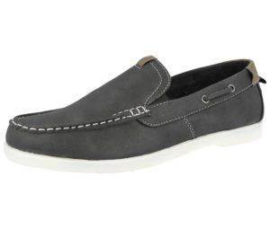 stallion-mens-faux suede slip on boat shoe