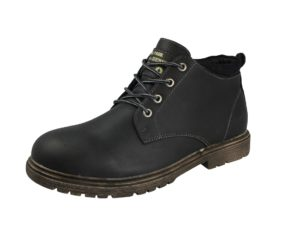stallion mens faux leather combat boot