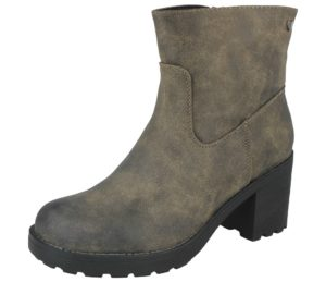 fabulous womens faux suede olive ankle boot