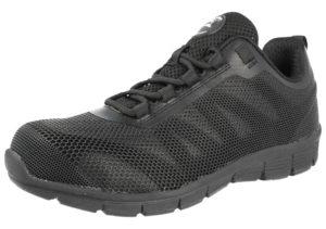 groundwork unisex steel toe cap shock absorbing trainer black