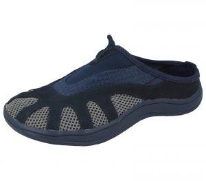 Barry Shoes Unisex Textile Mesh Slip On Shoes - Navy