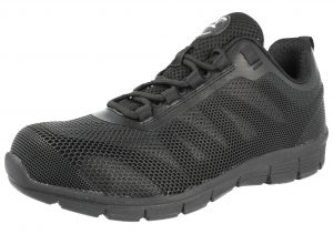 Groundwork Unisex Steel Toe Cap Shock Absorbing Trainers - Black