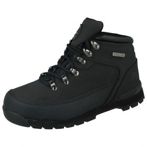 Groundwork Unisex Leather Steel Toe Cap Safety Boots - Black