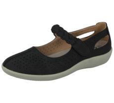 Cushion Walk Women's Faux Leather Mary Jane Shoes - Black