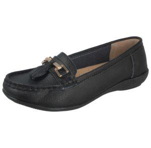 jo joe womens soft leather nudes slip on loafers black