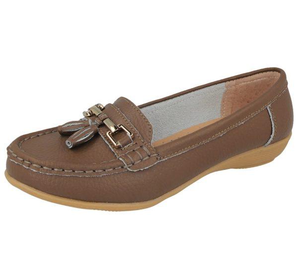 jo joe womens soft leather nudes slip on loafers coffee