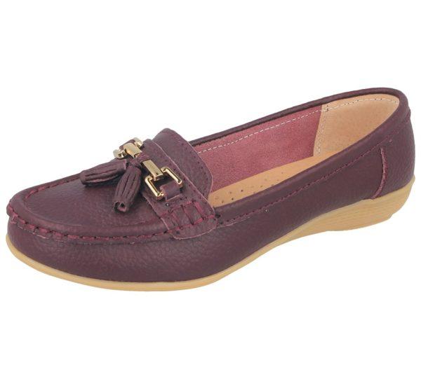 jo joe womens soft leather nudes slip on loafers grape
