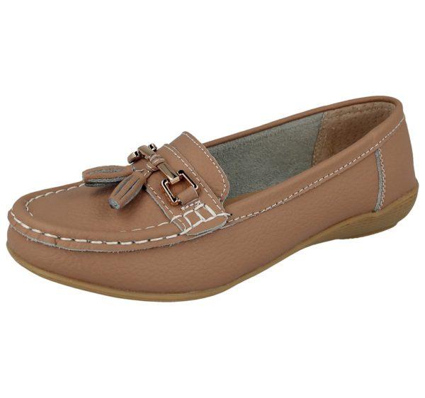 jo joe womens soft leather nudes slip on loafers mocha