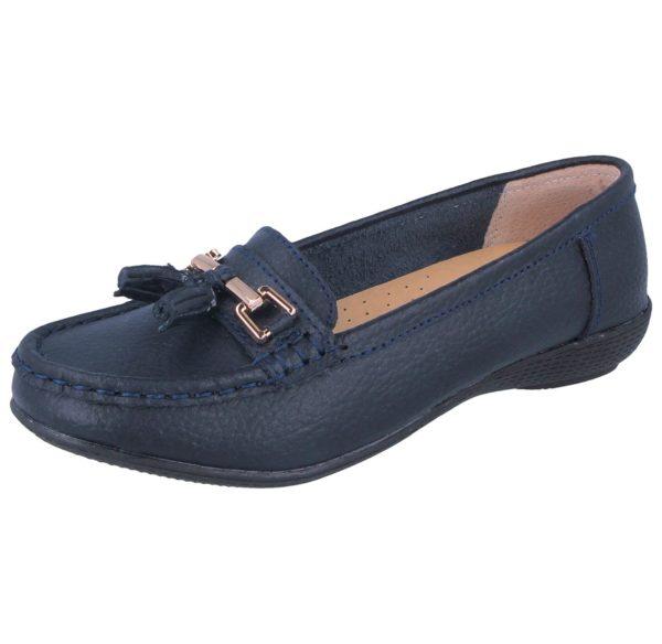 jo joe womens soft leather nudes slip on loafers navy