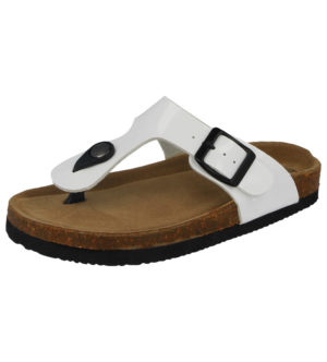 Bio Rock Girls Faux Leather Chunky Toe Post Sandals