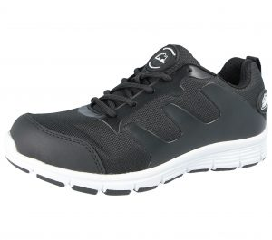 Groundwork Unisex Safety Steel Toe Cap Work Trainers - Black White