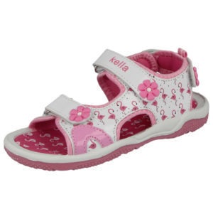 Kella Girls Faux Leather Triple Touch & Close Sandals