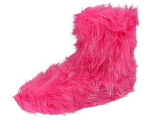 Yinka Shoes Girls Hot Pink Faux Fur Pull On Slipper Boots